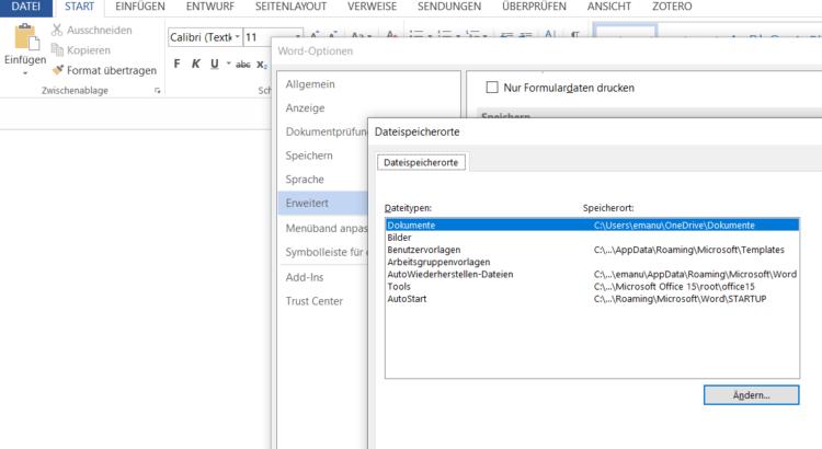 Zotero Plugin für MS Word Windows